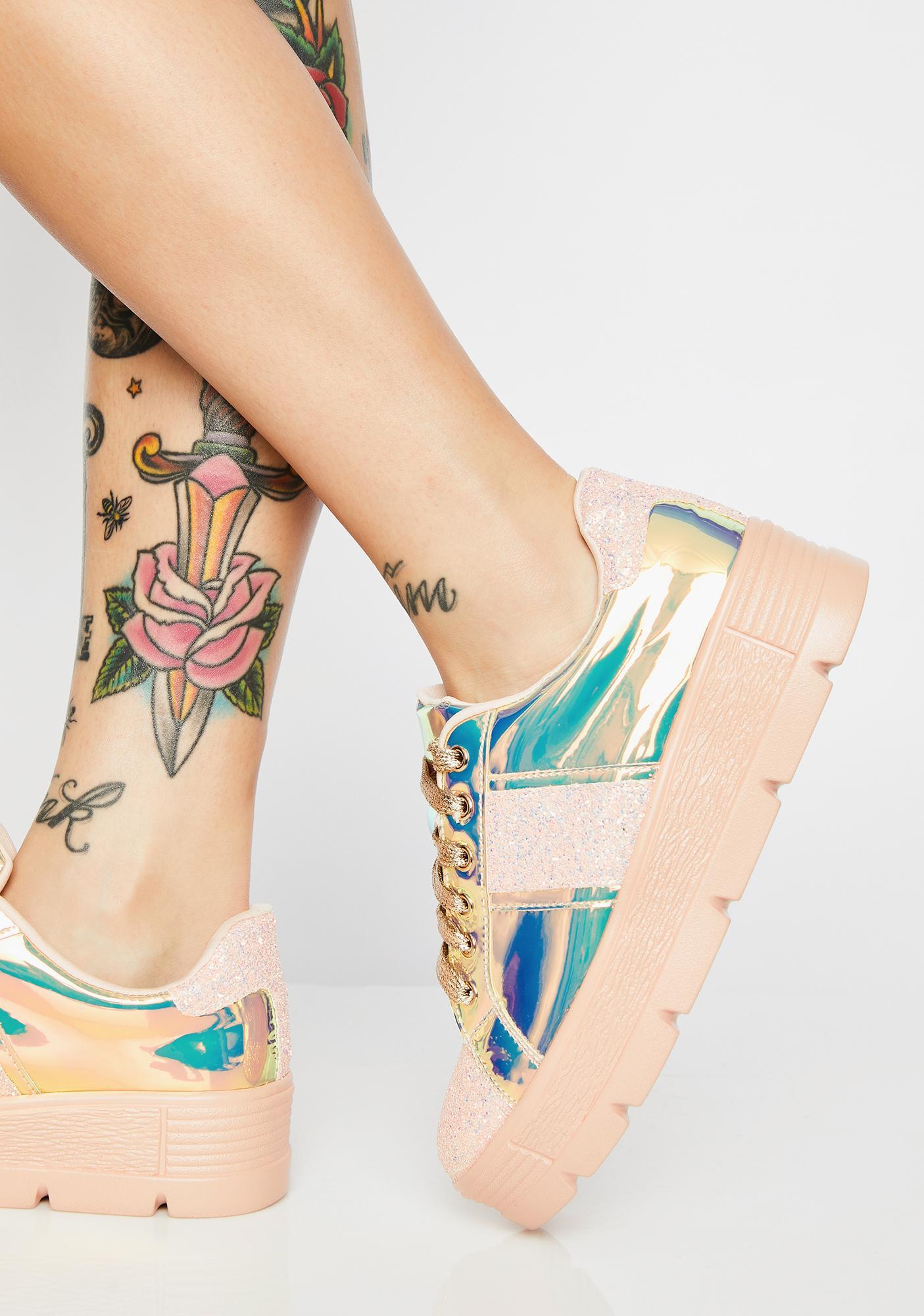Cosmic Clique Hologram Sneakers
