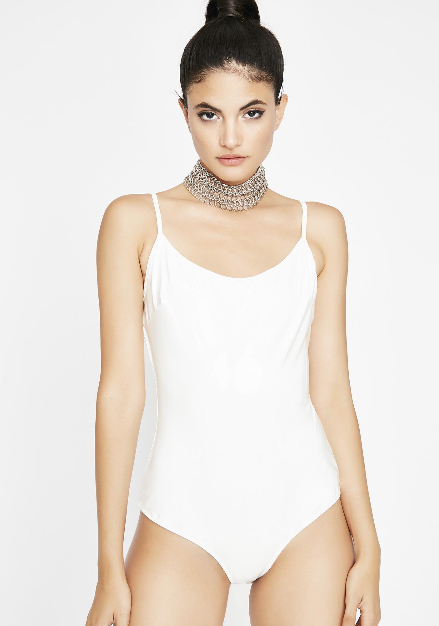 c82d02e44f White Slick Latex Bodysuit