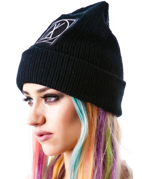 Icon Large Patch Beanie