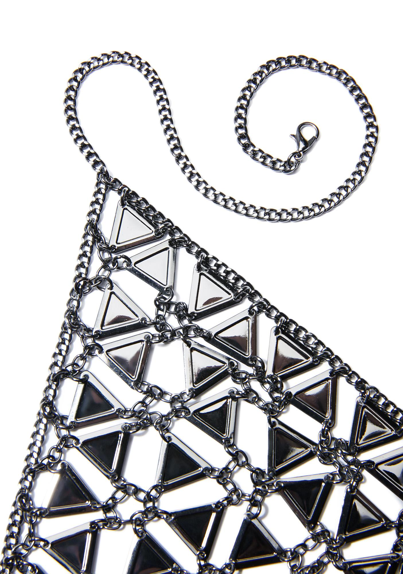 Gunmetal Princess Organa Chain Bra