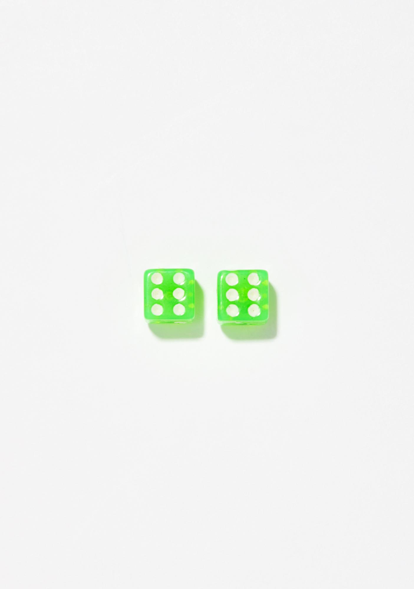 Radioactive Roll Dice Earrings