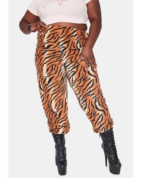 Curve Tiger Fleece Jogger Sweatpants