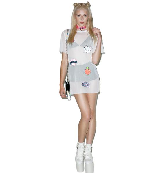 Local Heroes Girl Power Patches Mesh Dress