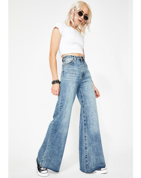 Hi Sweep Wide Leg Jeans