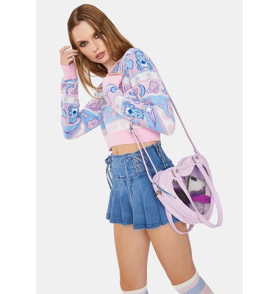 Lavender Eternally Yours Heart Shoulder Bag