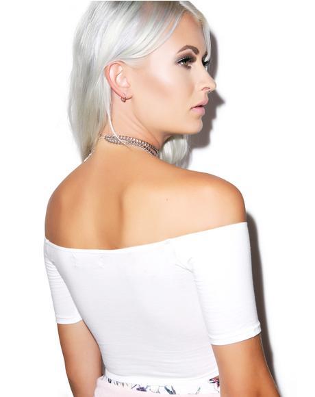 Dana Off The Shoulder Crop Top