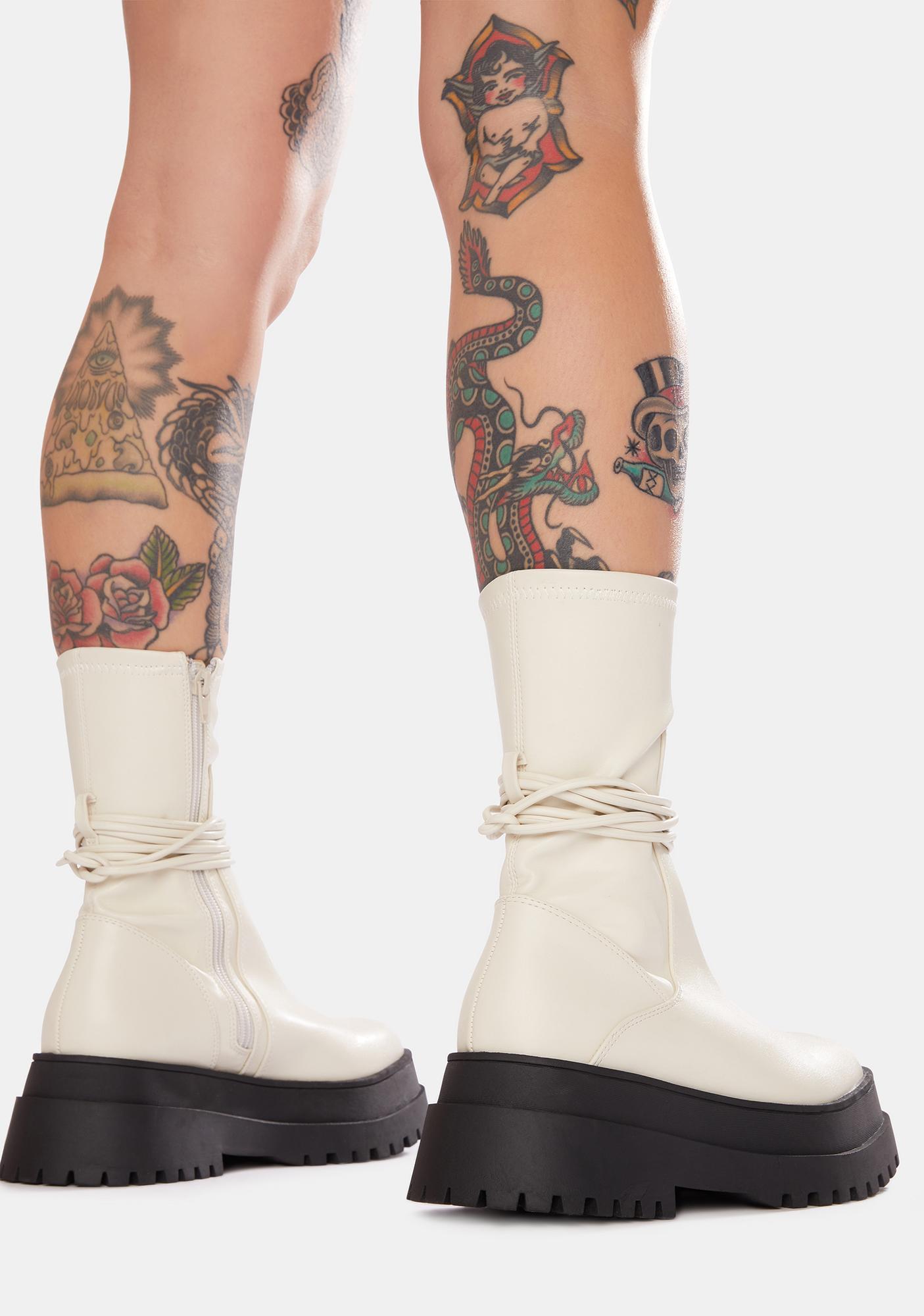 Public Desire Finale Chunky Wrap Ankle Boots