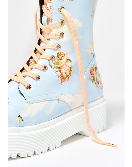 Pastel Peach Laces