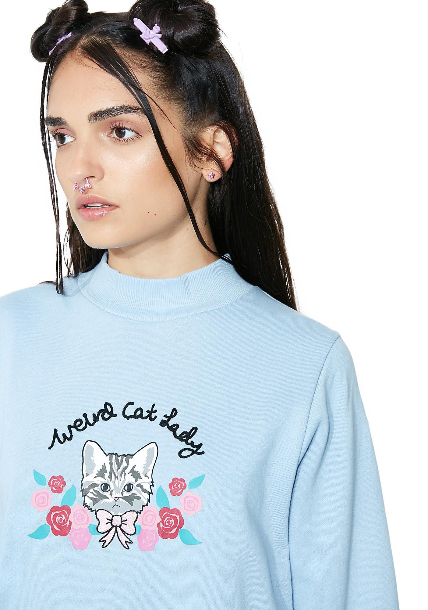 Lazy Oaf Weird Cat Lady Sweatshirt