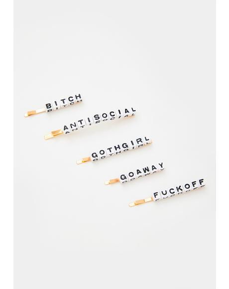 Spell It Out Hair Pin Set