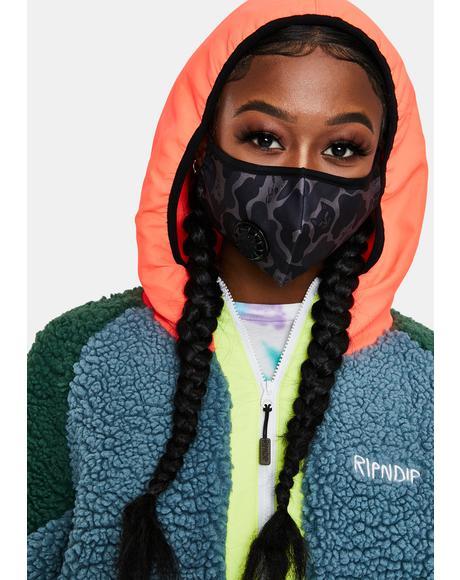 Blackout Camo Ventilator Face Mask