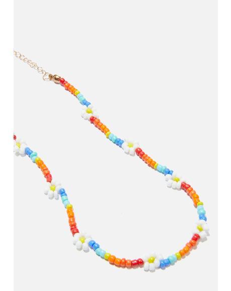 Floral Harmony Beaded Bracelet