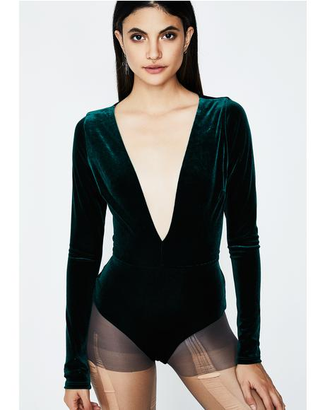 Diamond In The Rough Velvet Bodysuit