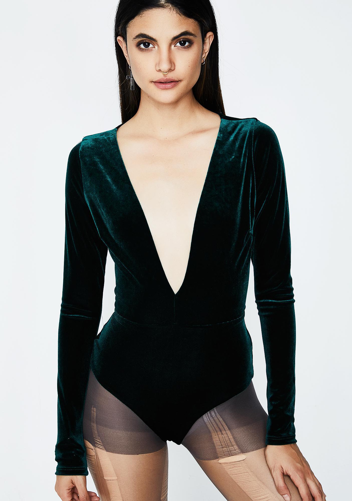 Diamond In The Rough Velvet Bodysuit