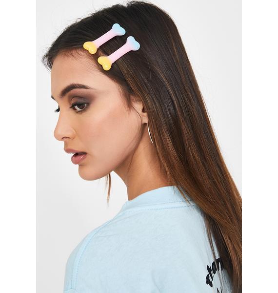 Kreepsville 666 Rainbow Bone Hair Slides