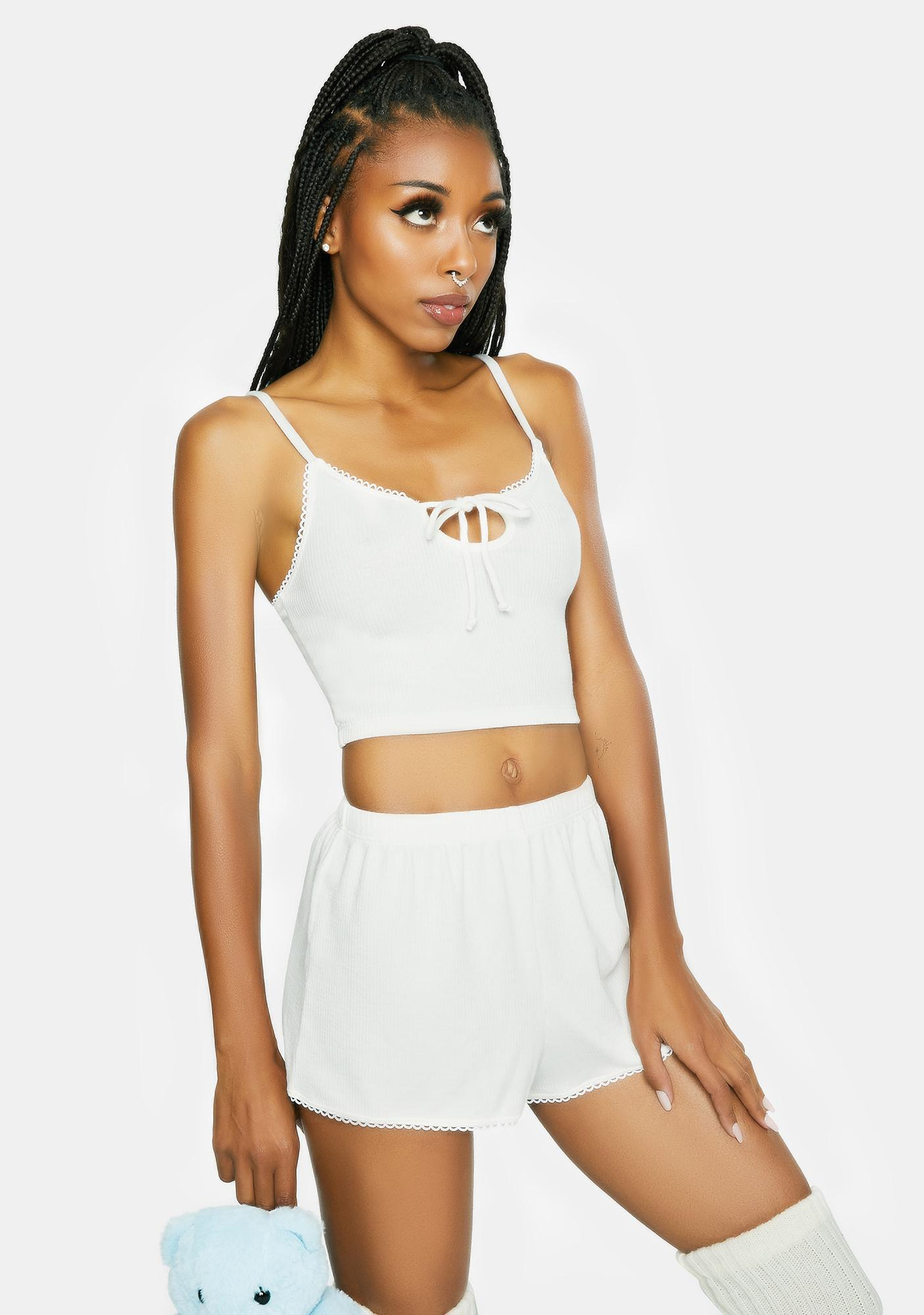 Dippin' Daisy's White Chase Me Crop Tank