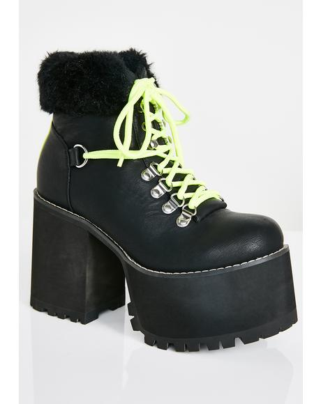 Street Stomper Platform Hiking Boots