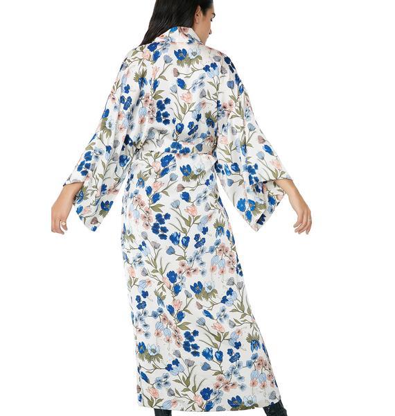 Morning Blossoms Floral Kimono