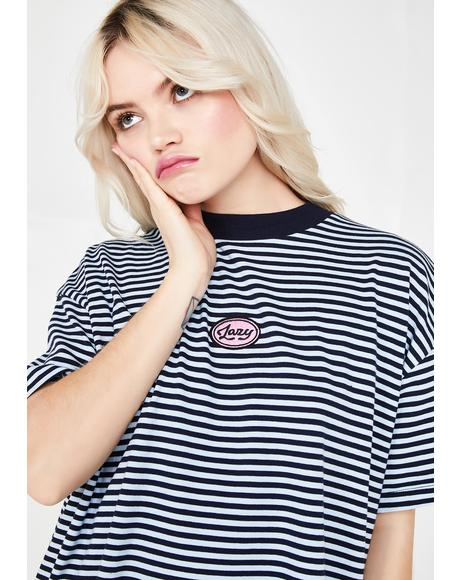 Lazy Stripe Oversized T-Shirt