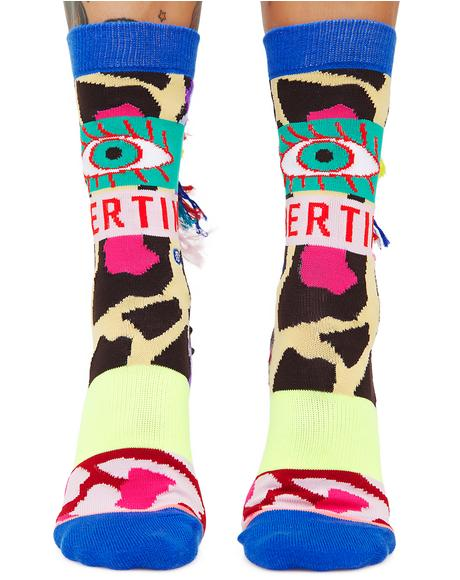 x Libertine Magic Eye Socks