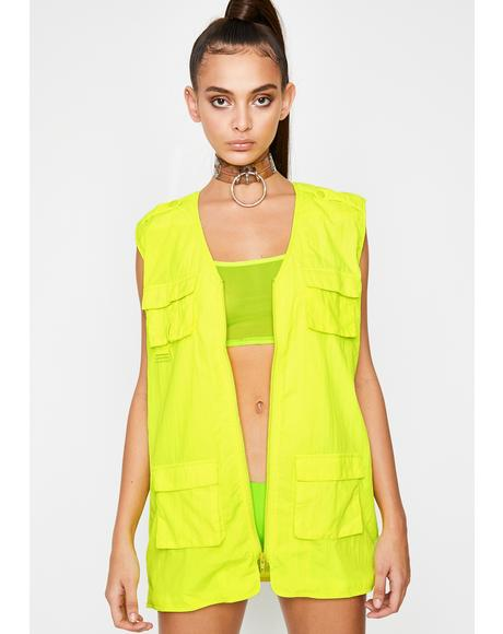 Radioactive Utility Queen Nylon Vest
