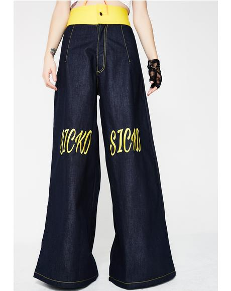 Sicko Denim Oversized Denim Pants