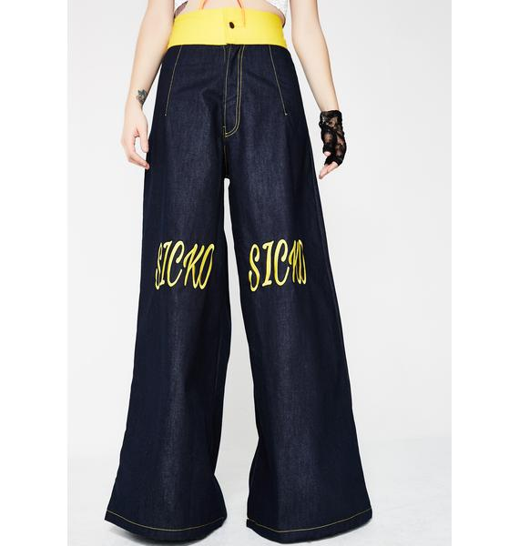 Sicko Cartel Sicko Denim Oversized Denim Pants