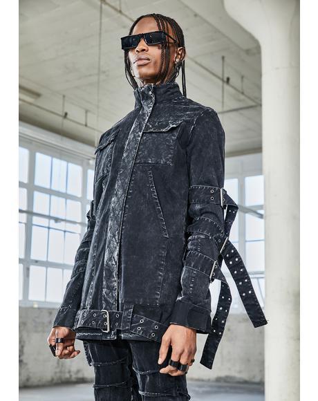 Bassline Washed Denim Zip Up Jacket