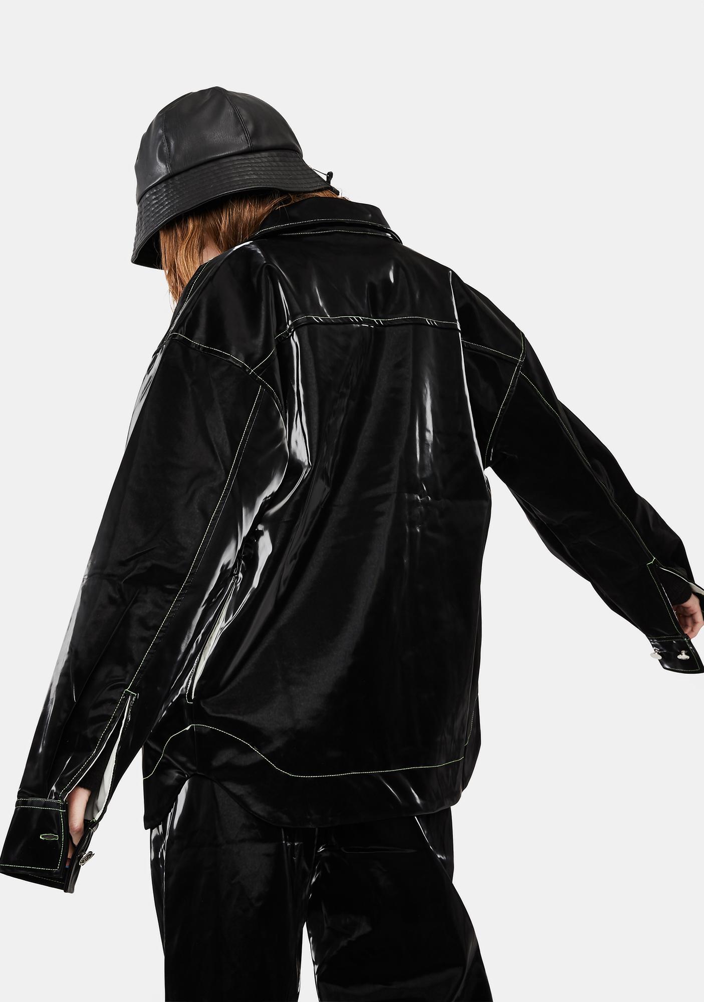 Somewhere Nowhere Rebel Faux Leather Shirt Jacket