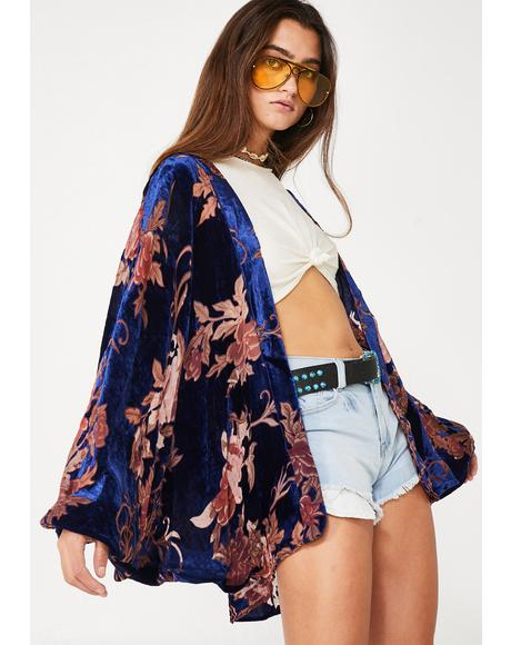 Royal Desert Call Floral Kimono
