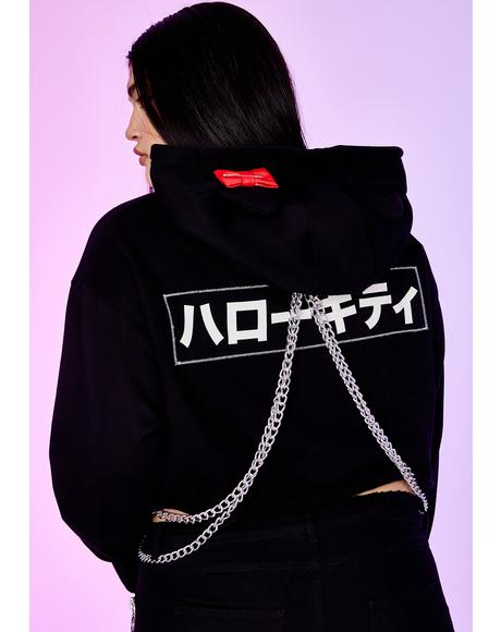 Manic Playtime Anarchy Cropped Hoodie
