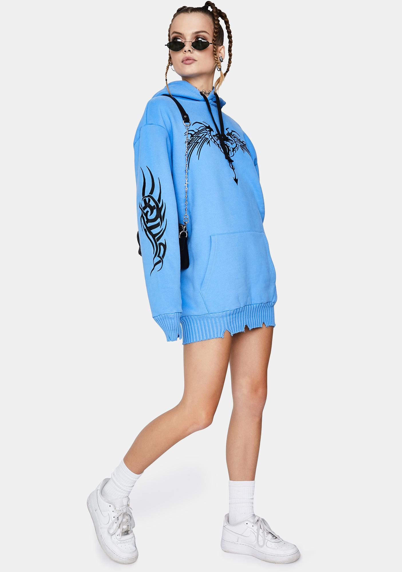 Current Mood Indigo Looking For Danger Hoodie Dress