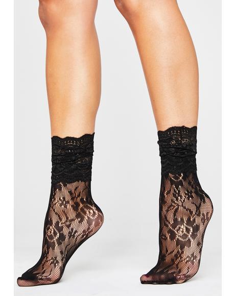 Delicate Romance Lace Socks
