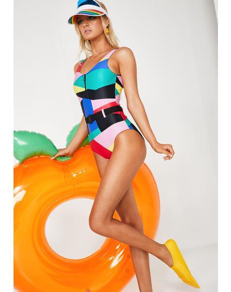 Geo Shape Swimsuit