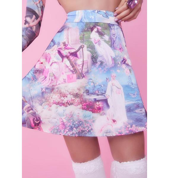 Sugar Thrillz Once Upon A Dime Satin Skirt