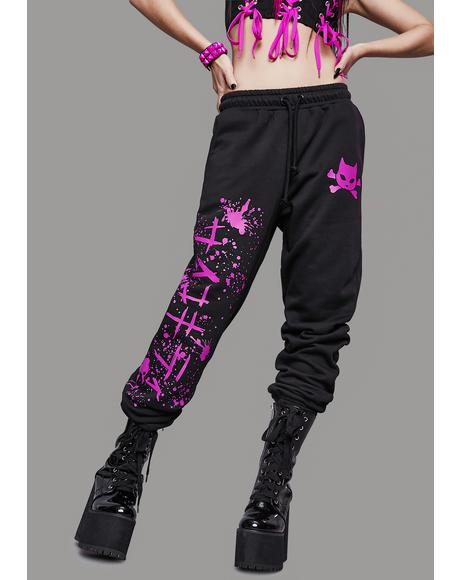 Psycho Kitty Graphic Sweatpants