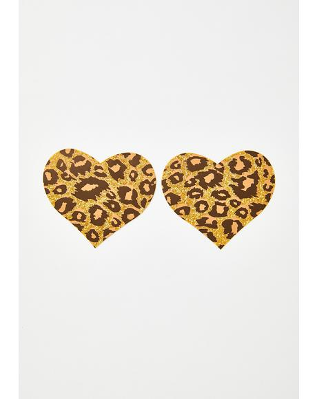Cheetah Heart Pasties
