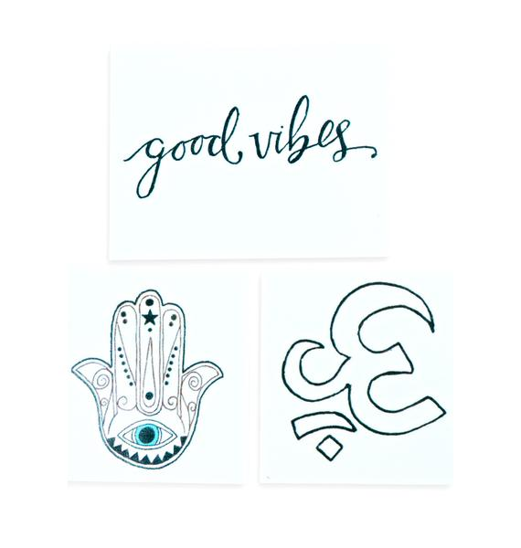 INKED by Dani Black And White Temporary Tattoo Pack