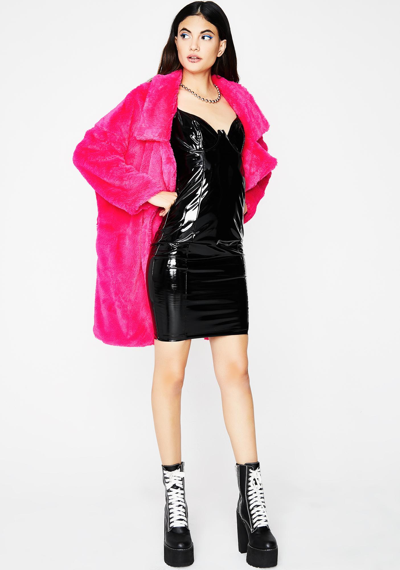 Midnight Main Chick Vinyl Dress