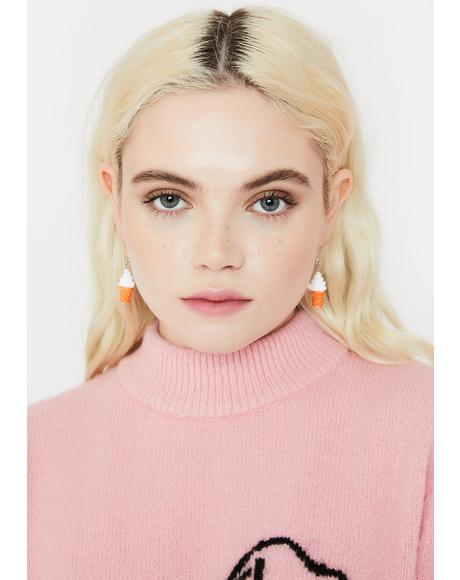 Vanilla Soft Serve Drop Earrings