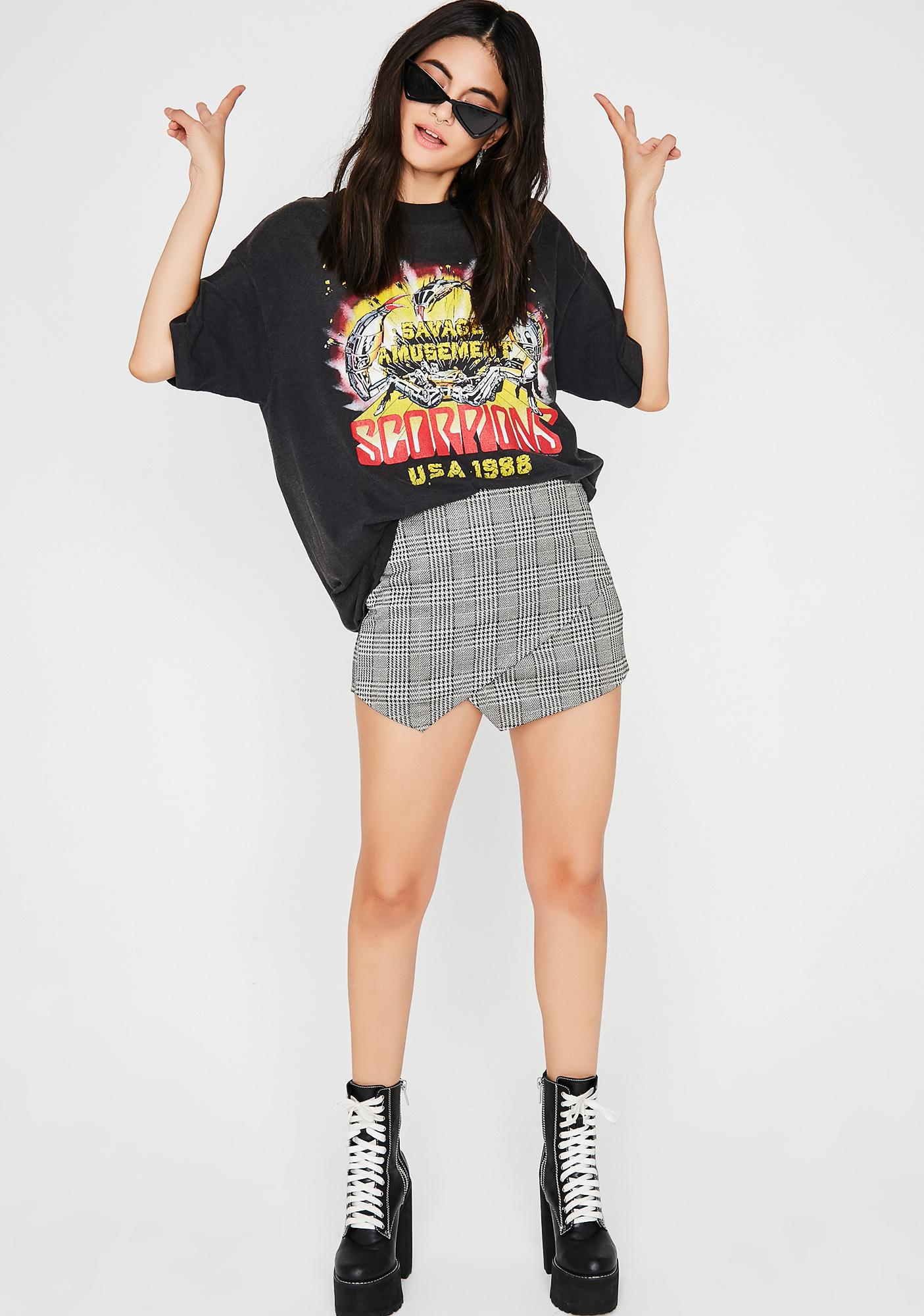 Too Busy Plaid Skort