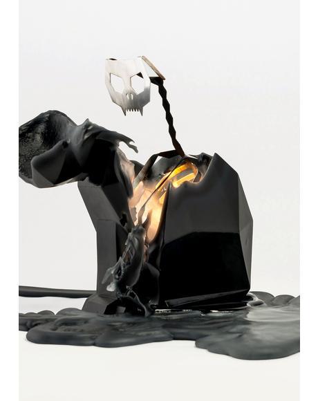 Black Kisa Cat Candle