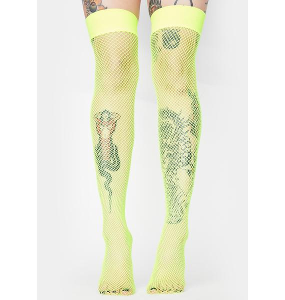 Future Shock Fishnet Thigh Highs