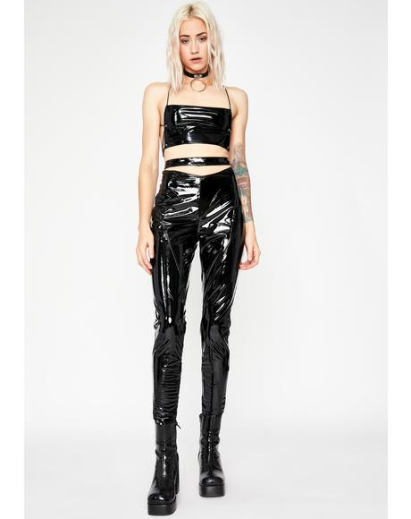 Magnetic Matrix Vinyl Pants