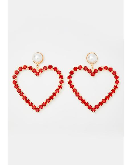 Big Time Love Rhinestone Earrings