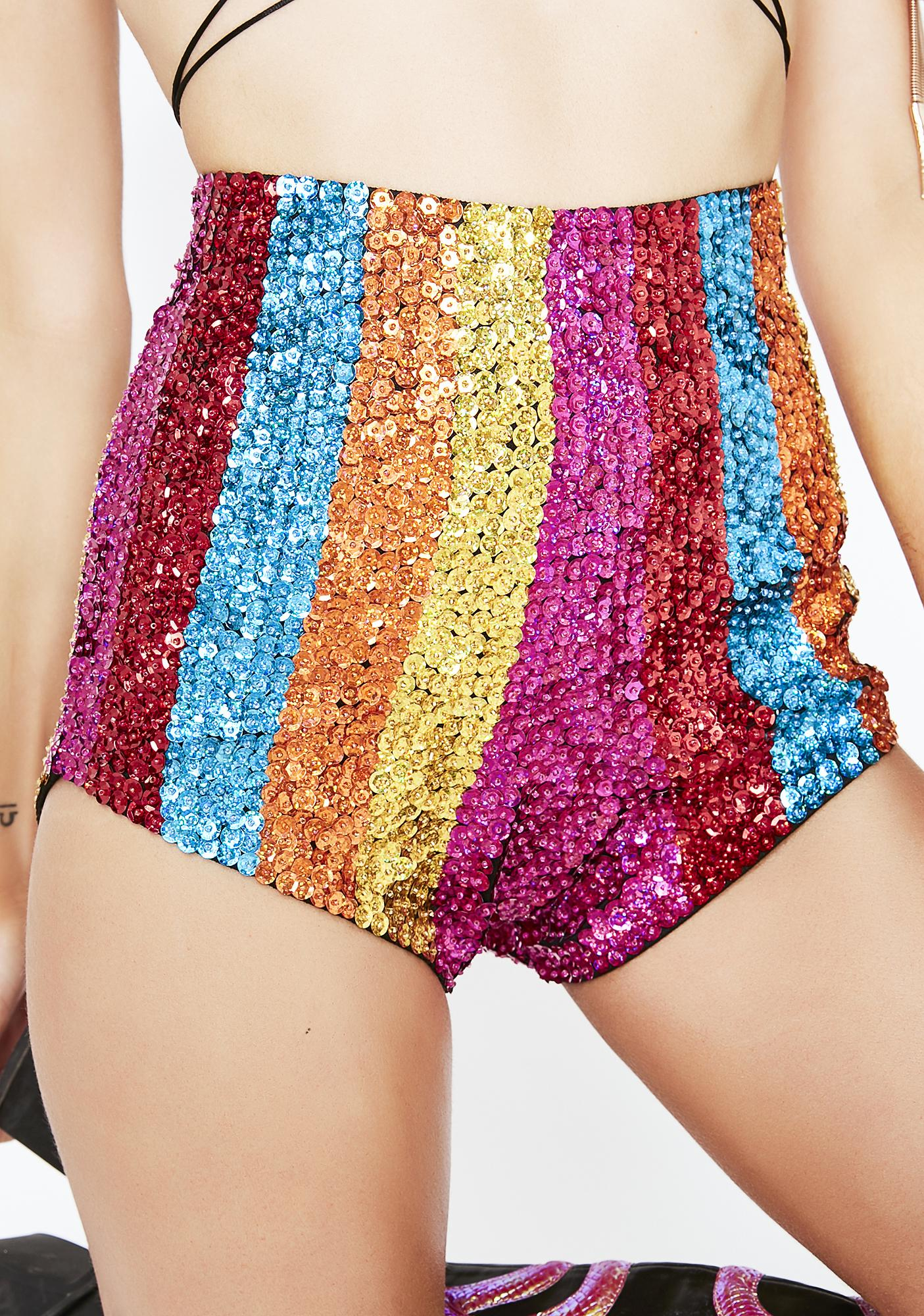EASY TIGER Candy Sequin Shorts