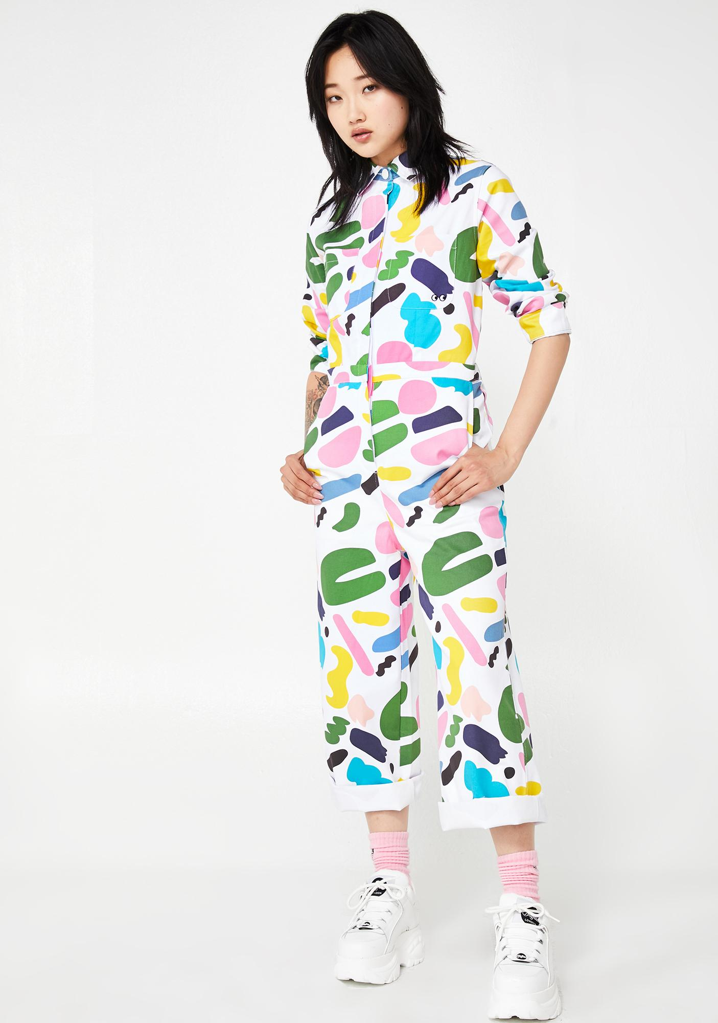 Lazy Oaf x Studio Arhoj Rue Print Boiler Suit
