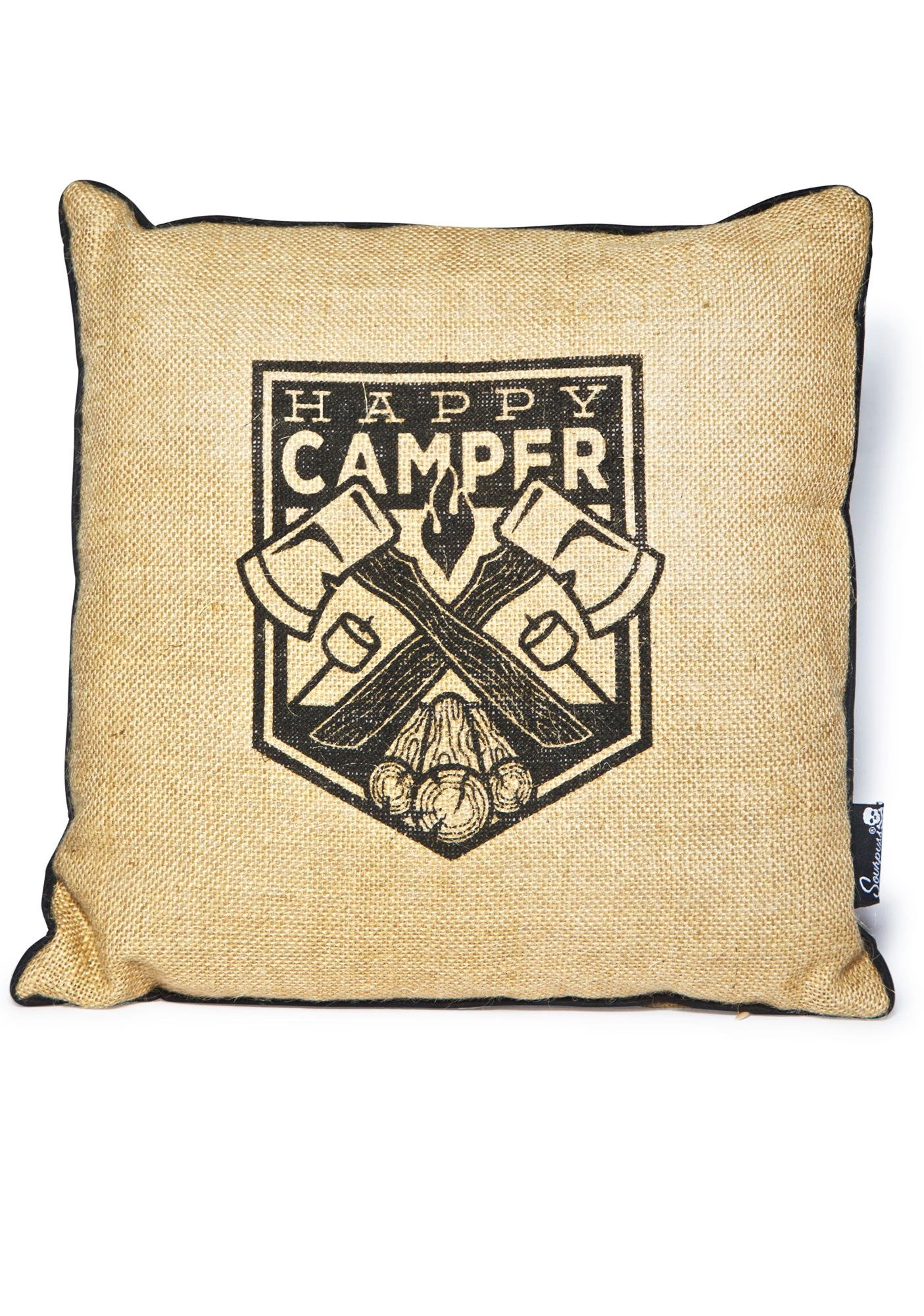 Sourpuss Clothing Happy Camper Pillow