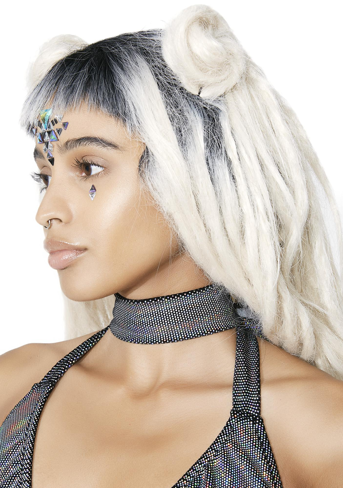 J Valentine Star Scouter Holographic Choker