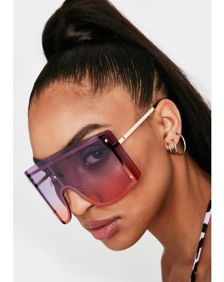 Pretty High Ratings Shield Sunglasses